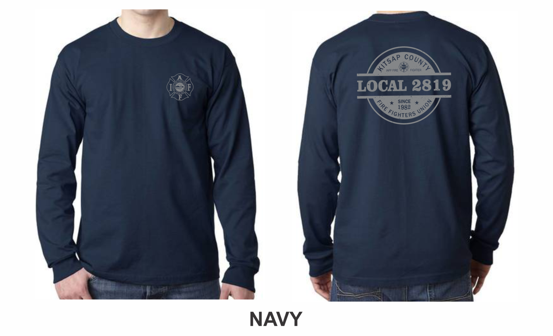 TALL Long Sleeve Logo T-Shirt - 8.0 oz. 100% Cotton