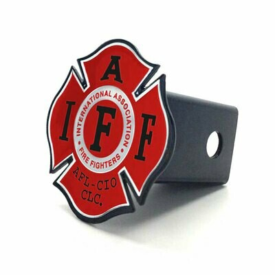 Steel Hitch Cover - Red & Chrome