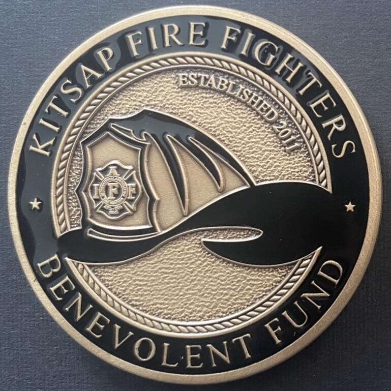 Kitsap Fire Fighters B-Fund Challenge Coin - Brass