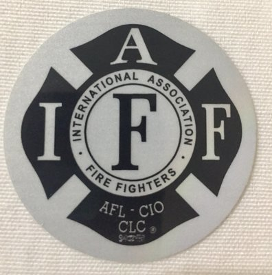 Helmet Sticker IAFF Black/White