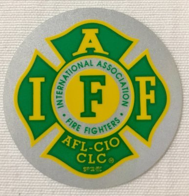 Helmet Sticker IAFF Green Yellow