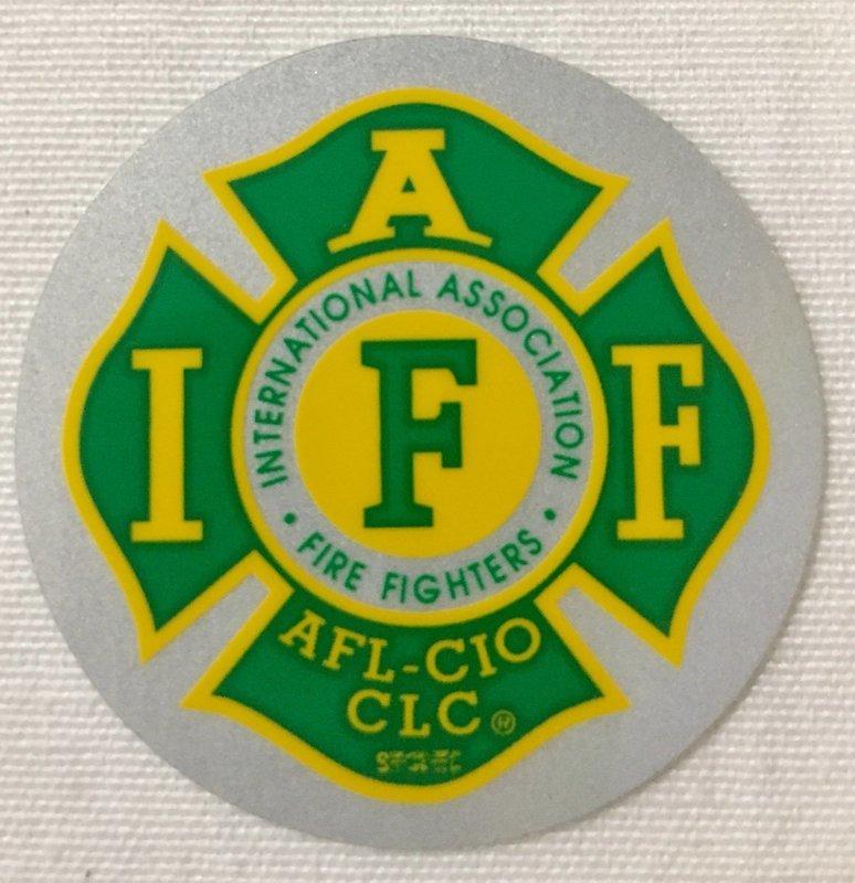 Helmet Sticker IAFF Kelly Green