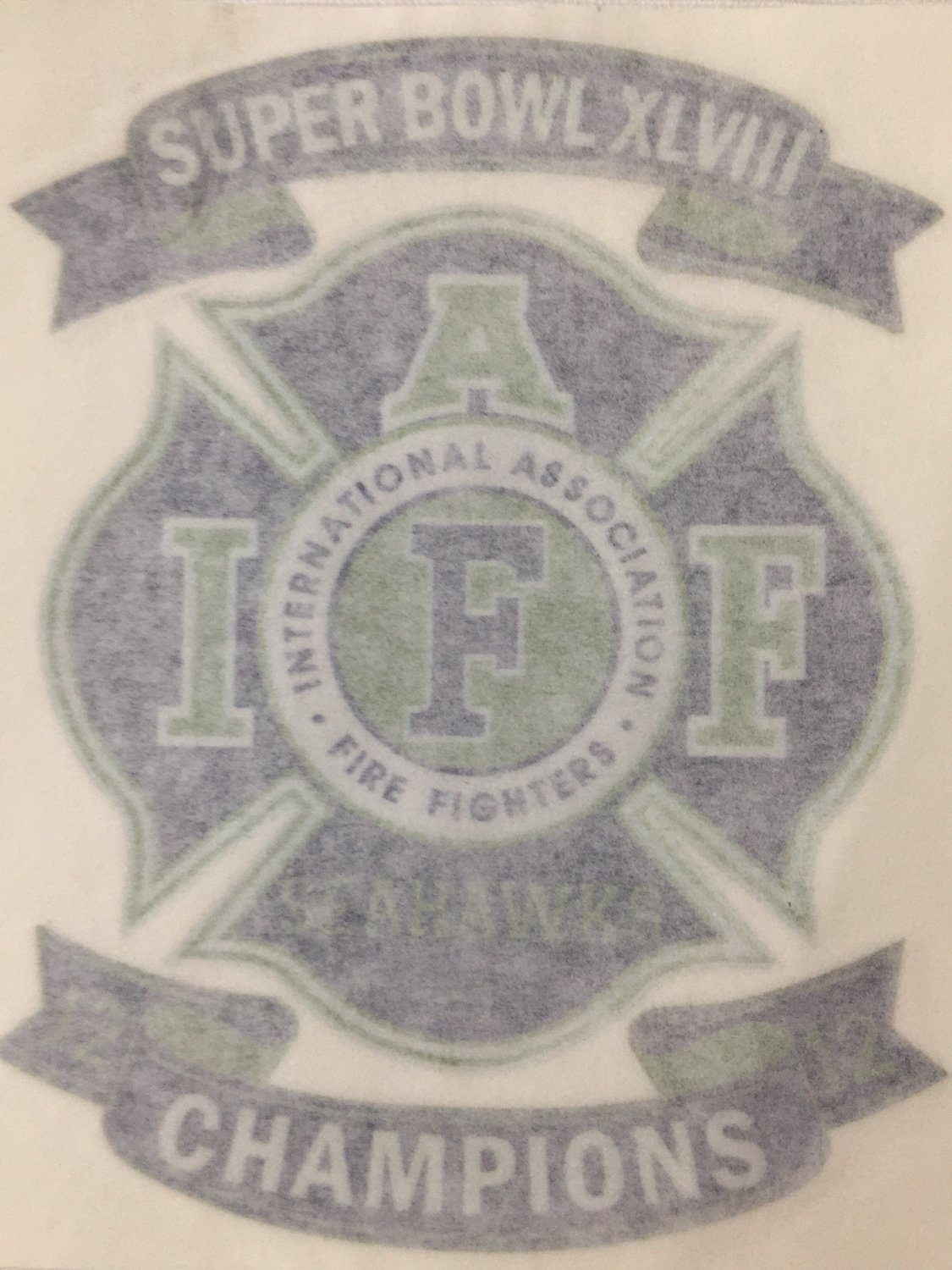 Vehicle Sticker IAFF Superbowl Champs