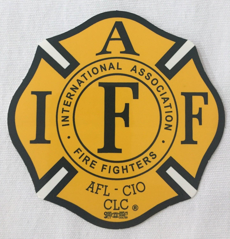 Vehicle Sticker IAFF Yellow & Black