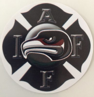 Helmet Sticker IAFF Union Logo