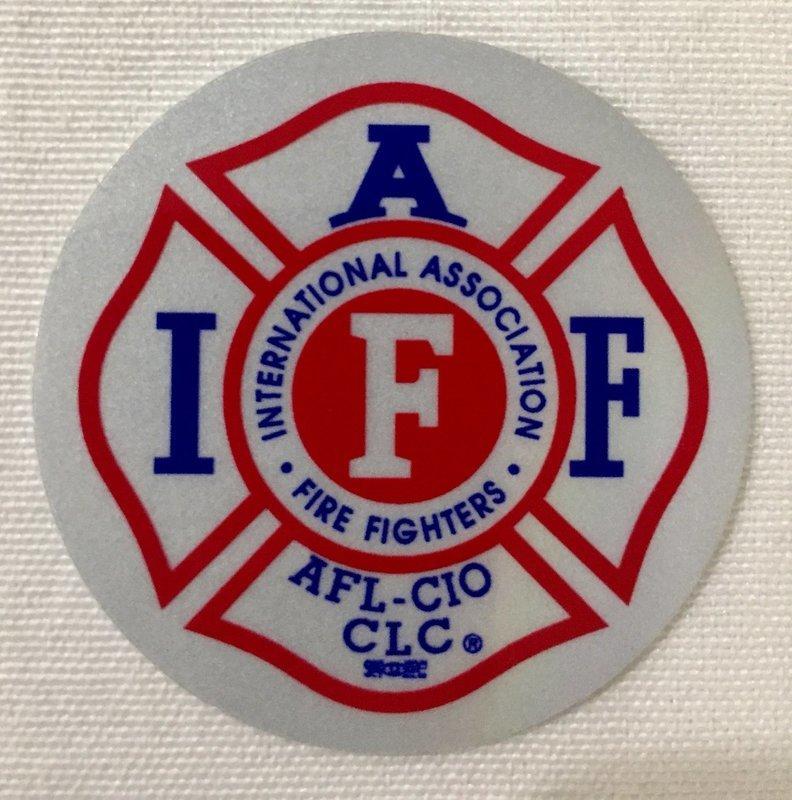 Helmet Sticker IAFF White