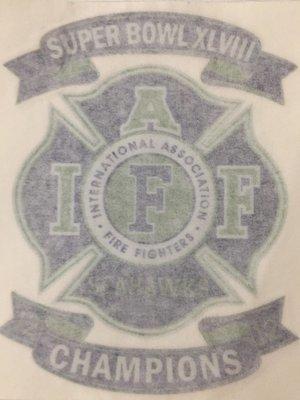 Vehicle Sticker IAFF Superbowl Champs