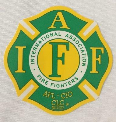 Vehicle Sticker IAFF Green Yellow
