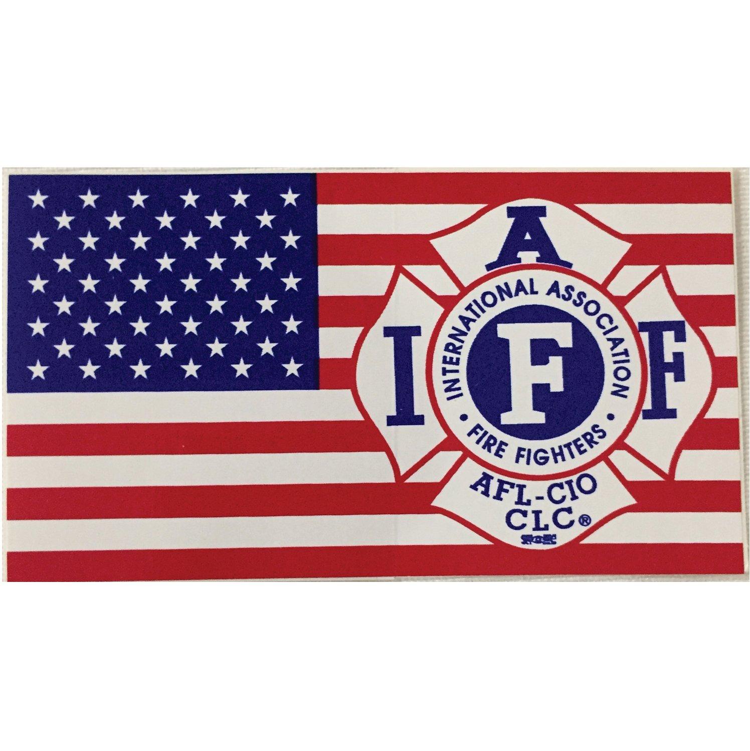 Vehicle IAFF US Flag Sticker