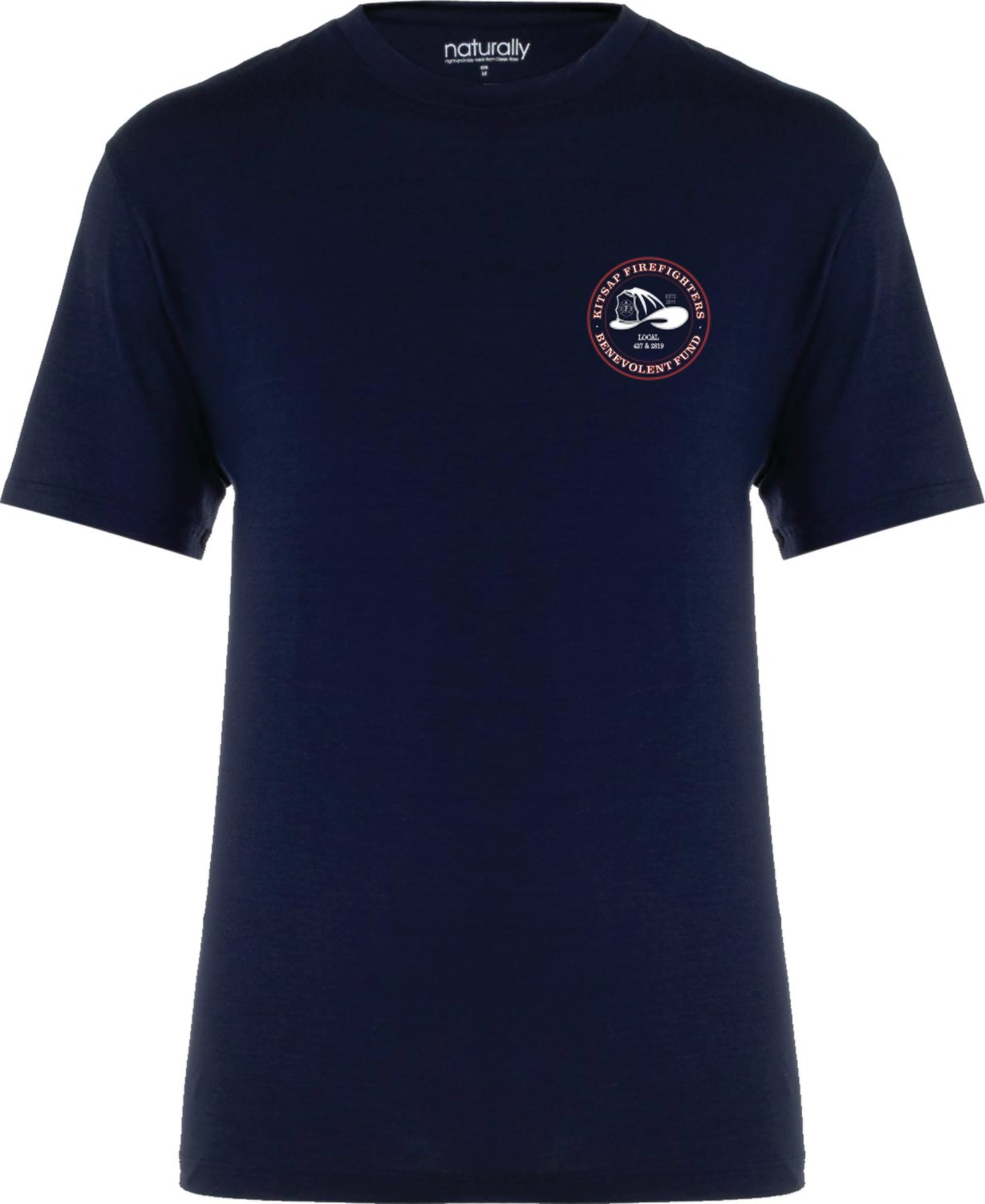 B-Fund Logo T-Shirt, Navy (Youth Medium - Front Logo Only)