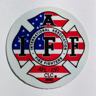 Helmet Sticker IAFF USA