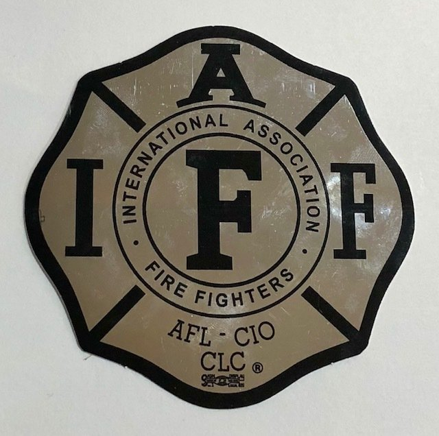 Vehicle Sticker IAFF Chrome