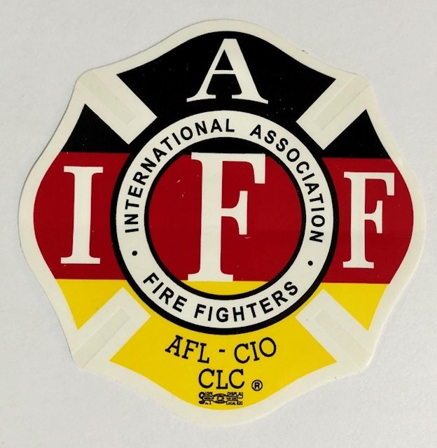 Vehicle Sticker IAFF German Flag