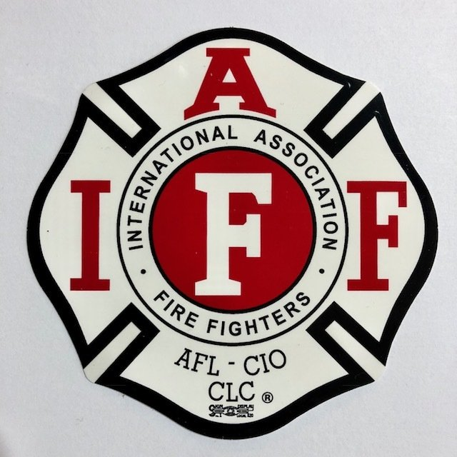 Vehicle Sticker IAFF White