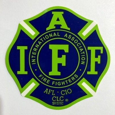 Vehicle Sticker IAFF Blue & Green