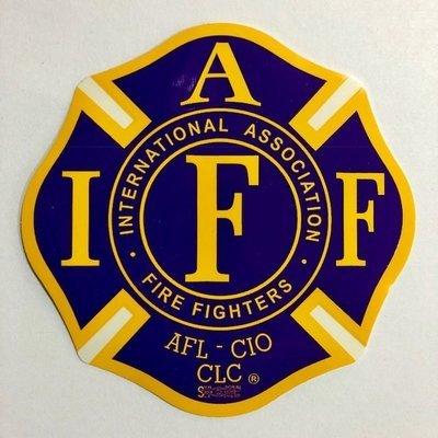 Vehicle Stickers IAFF Purple & Yellow