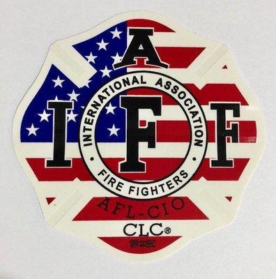 Vehicle Sticker IAFF USA