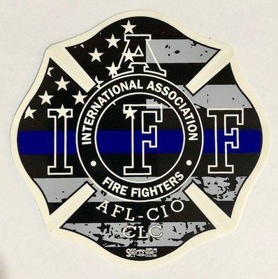 Vehicle Sticker IAFF USA Police Support