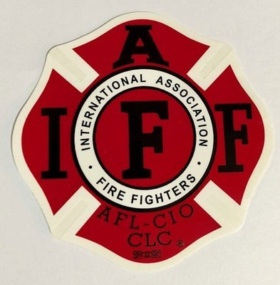 Vehicle Sticker IAFF Traditional Red (Inside Sticker)