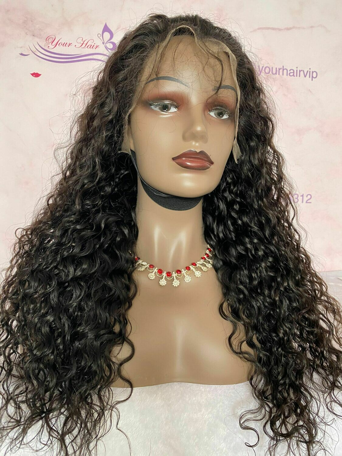 13x6 HD lace Frontal Wig Natural Wave 180 Density