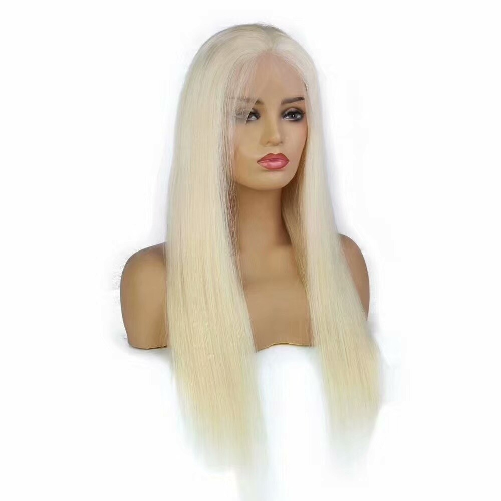 Blonde 13 x 4 Frontal Lace Wig Straight 130 Density with Baby Hair