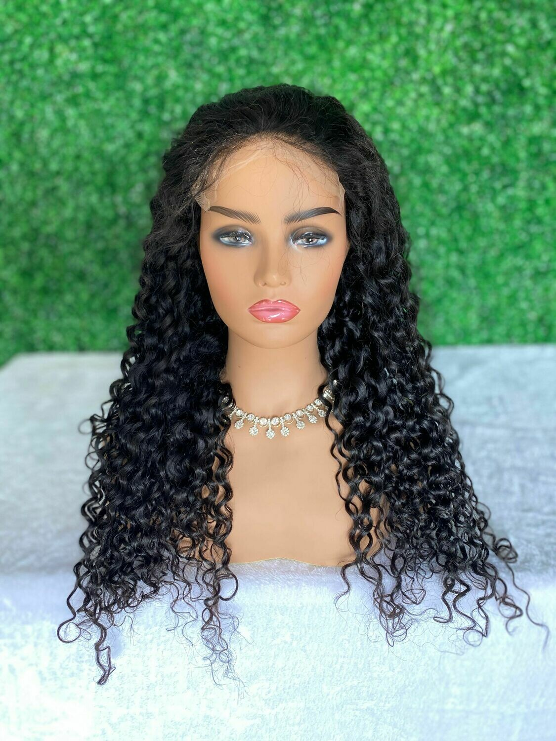 Custom 5 x 5 HD Lace Closure Wig Water Wave