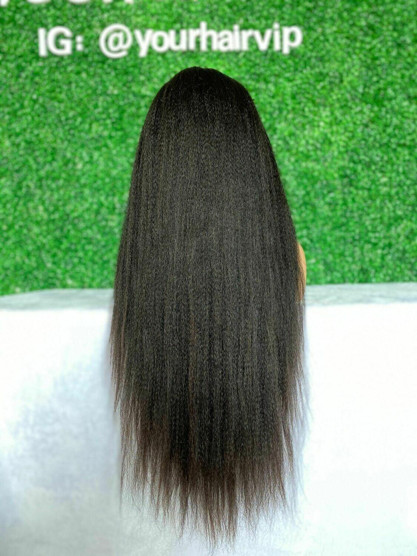 Custom 13 x 4 HD Lace Frontal Wig Yaki Textures