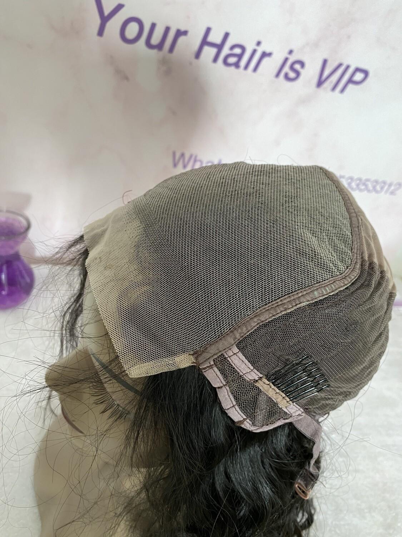 Custom 4 x 4 Transparent Lace Closure Wig Straight/ Body Wave