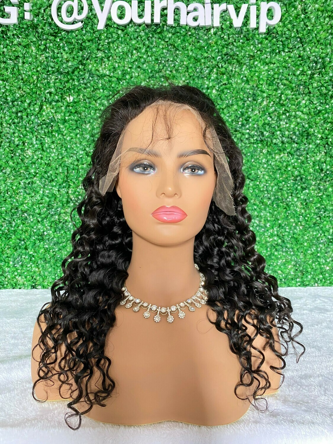 Custom Full 13 x 4 HD Lace Frontal Wig Natural Wave