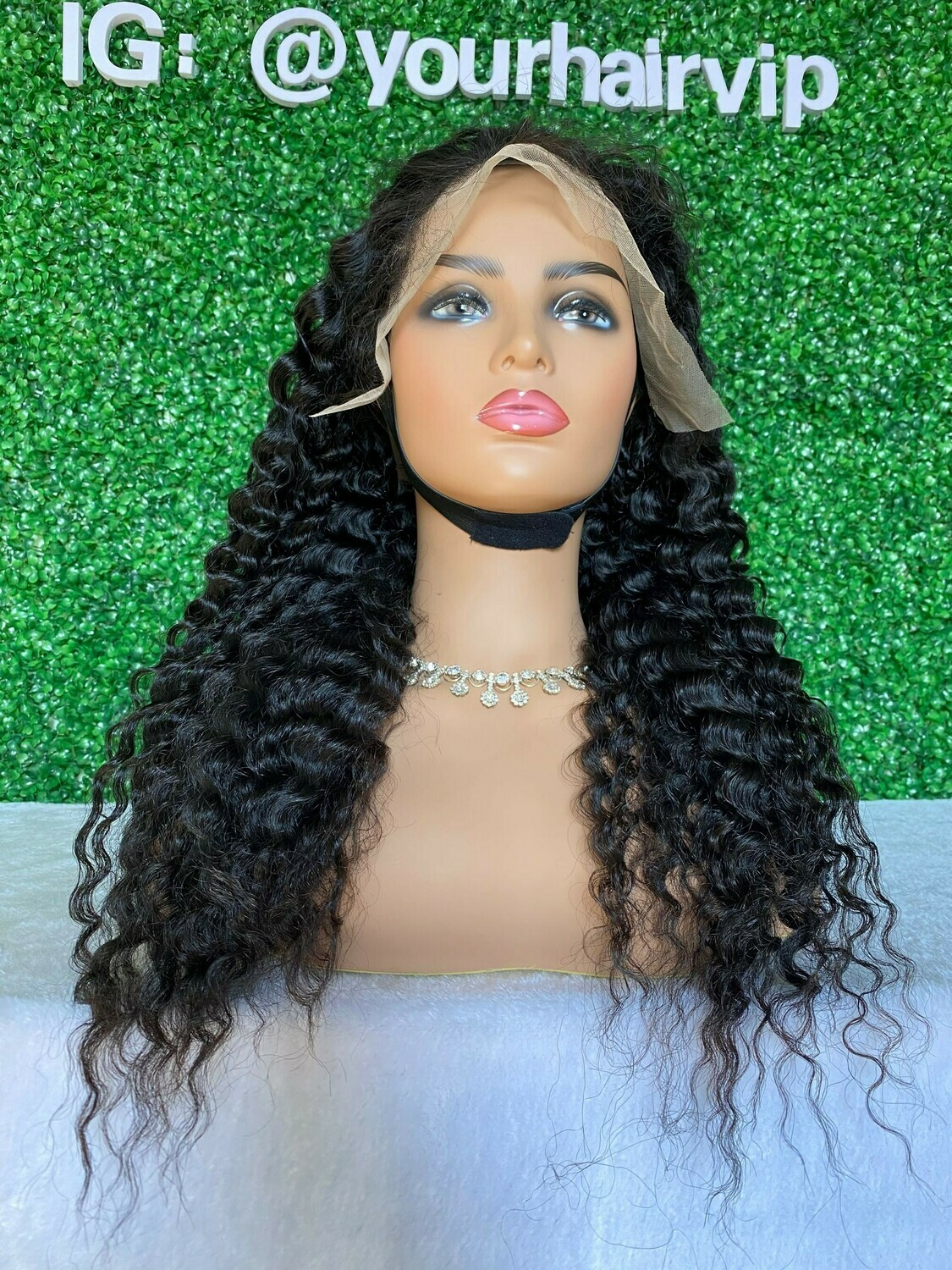 Custom Full 13 x 4 Transparent Lace Frontal Wig Deep wave