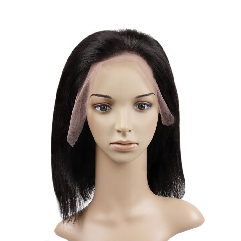 Popular Bob Free Part Full Lace Frontal Wig Virgin Human Hair 150% density can be dyed