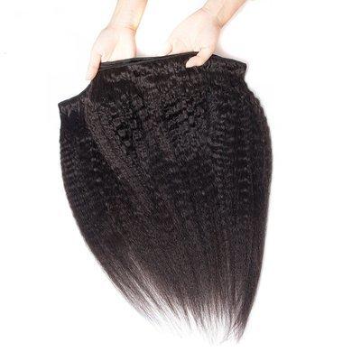 1PC Afro Kinky Straight Human Virgin Hair Bundle