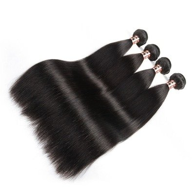 4 PCS Straight Unprocessed Human Hair Extension Bundles