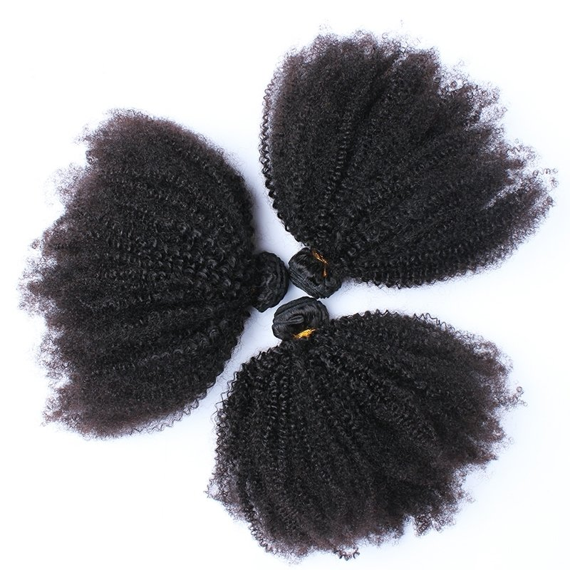 3PCS  Afro Kinky Curly Human Virgin Hair Bundles