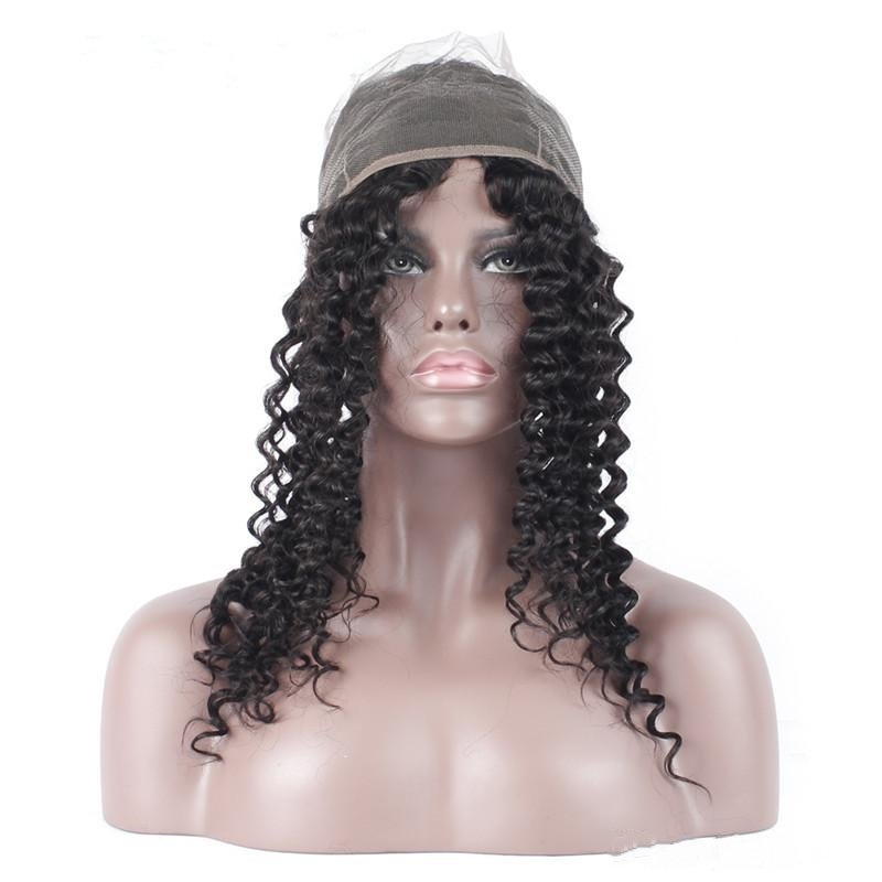 4 PCS/LOT Water Wave 360 Lace Frontal Closure With 3 Bundles Virgin Human Hair Weaves