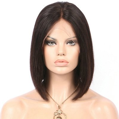 Straight Bob Full Lace Frontal 13*4  Wig Virgin Human Hair can be dyed