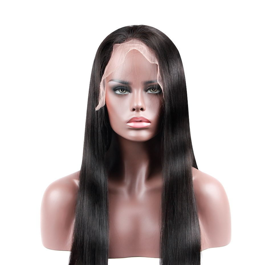 Straight Raw Virgin Hair Full Lace Wig Human Hair can be dyed into 613 blonde color