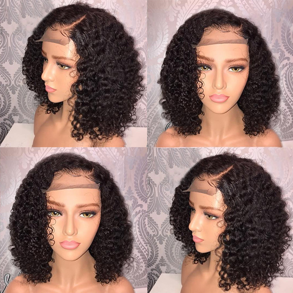 Curly Bob Full Lace Frontal 13*6 Wig Virgin Human Hair can be dyed