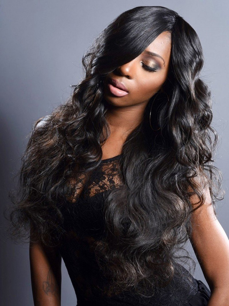 Body Wave Full Lace Frontal Wig Human Hair Can Be Dyed