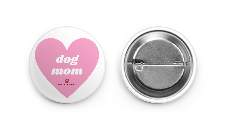 Dog Mom Button