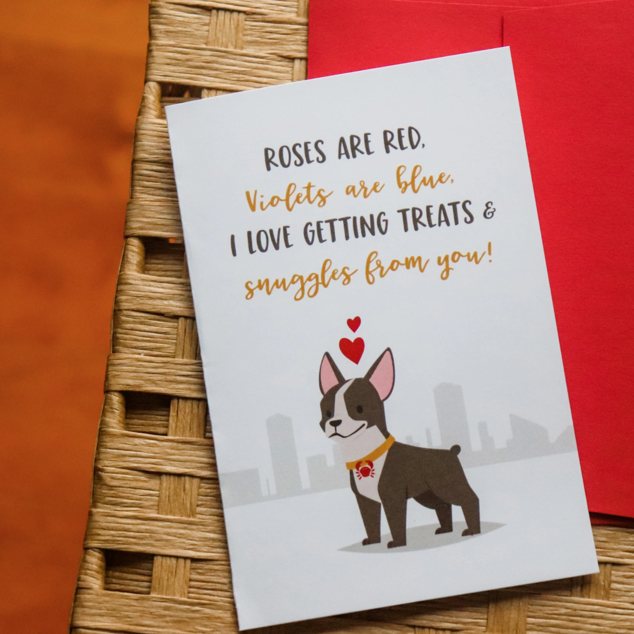 """""""Roses Are Red"""" Greeting Card"""
