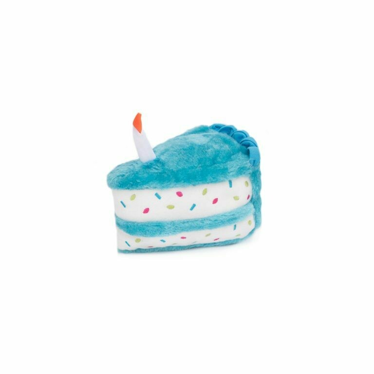 Birthday Cake Dog Toy - Blue