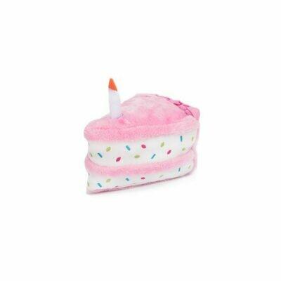 Birthday Cake Dog Toy - Pink