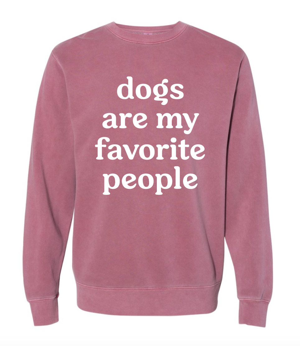 Dogs are My Favorite People Crewneck Sweatshirt