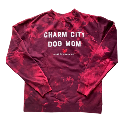 Tie-Dye Charm City Dog Mom Crewneck Sweatshirt - LIM EDITION