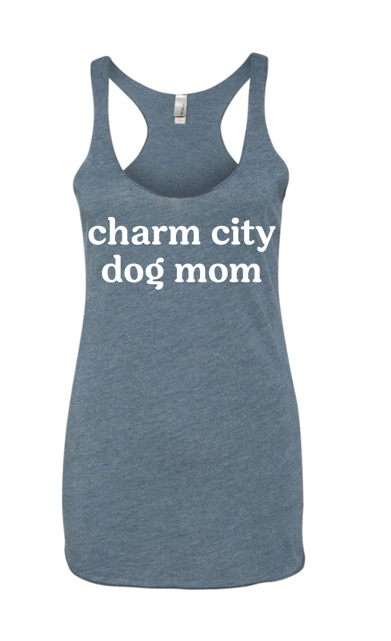 Charm City Dog Mom Racerback Tank