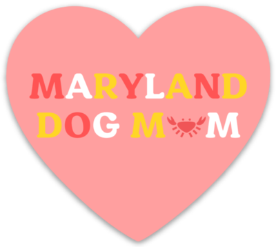 Maryland Dog Mom Sticker
