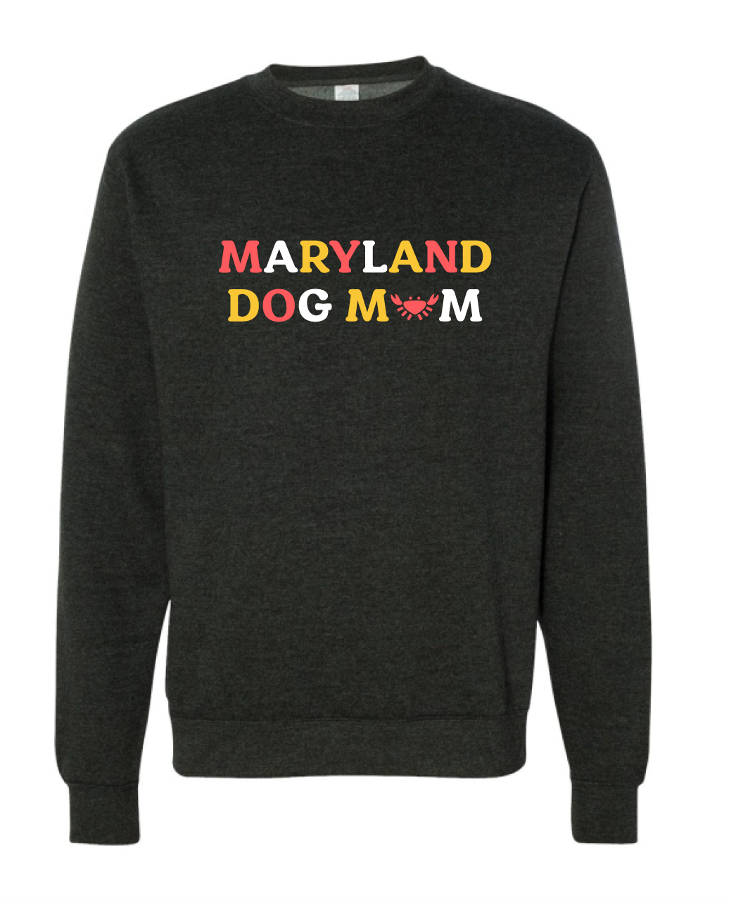 Maryland Dog Mom Crewneck Sweatshirt