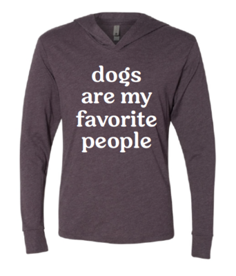 Dogs are My Favorite People Hooded Tee