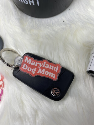 Maryland Dog Mom Keychain
